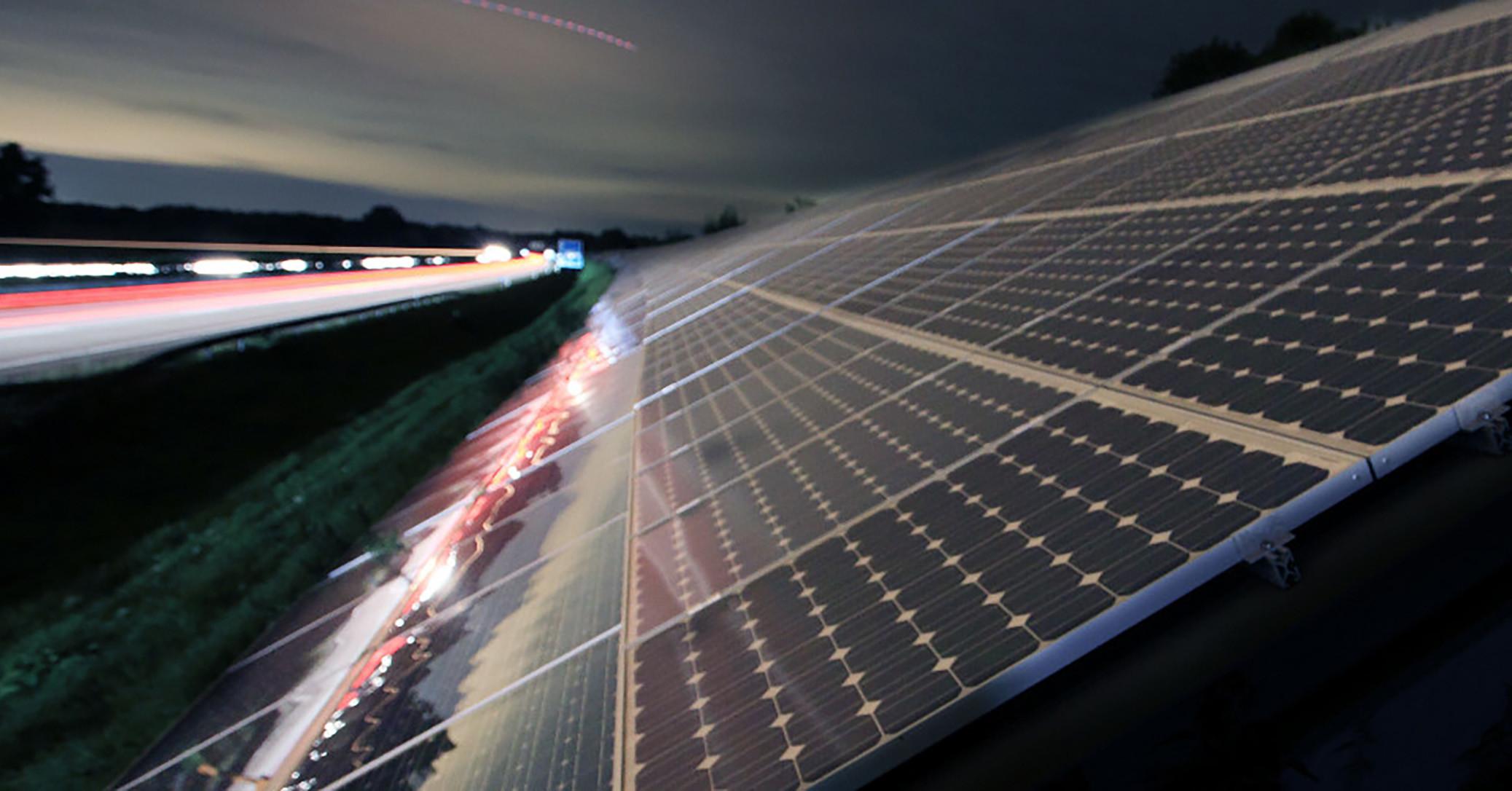US DOT Solar noise barrier